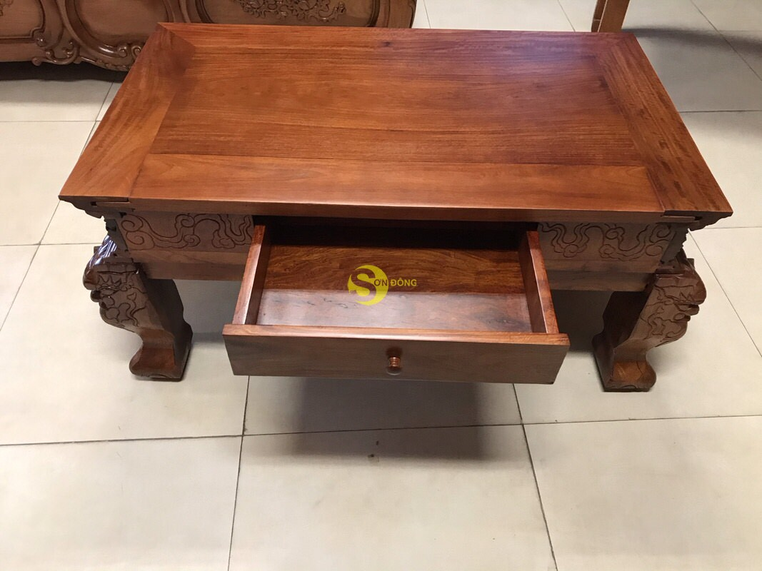Sập thờ tứ linh gỗ giáng hương Lào xịn siêu Vip SD224 (Ảnh 7)