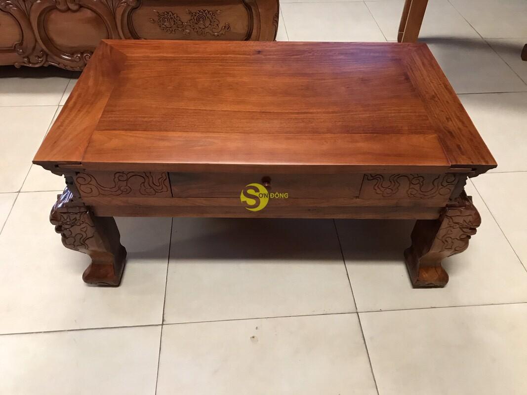 Sập thờ tứ linh gỗ giáng hương Lào xịn siêu Vip SD224 (Ảnh 8)