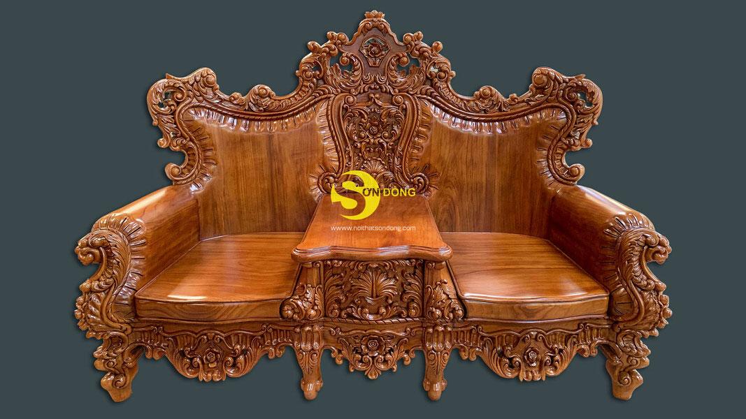 Bộ sofa cổ điển gỗ gõ đỏ 9 món siêu VIP1-BBG353VIP (Ảnh 9)