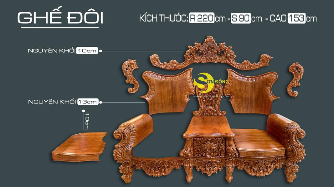 Bộ sofa cổ điển gỗ gõ đỏ 9 món siêu VIP1-BBG353VIP (Ảnh 8)